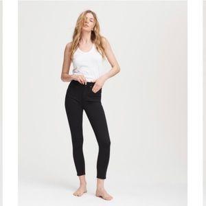NWT rag& bone black high rise ankle skinny jeans